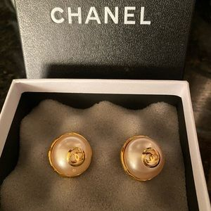 Authentic large chanel earrings